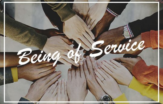 Being of service.