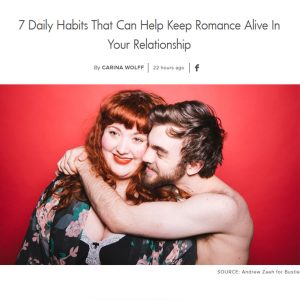 Screenshot of an article - 7 Daily Habits That Can Help Keep Romance Alive In Your Relationship