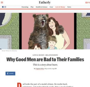Screenshot of an article - Fatherly article screenshot